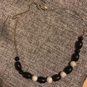 J crew navy necklace